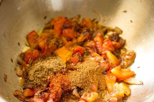 spices for making dum aloo biryani recipe
