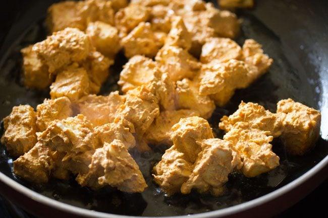 paneer marination for making paneer kathi roll recipe