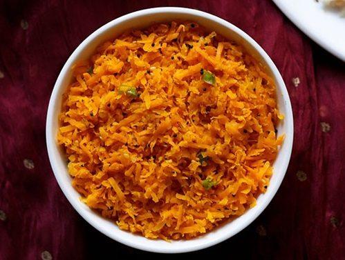 carrot sambharo recipe