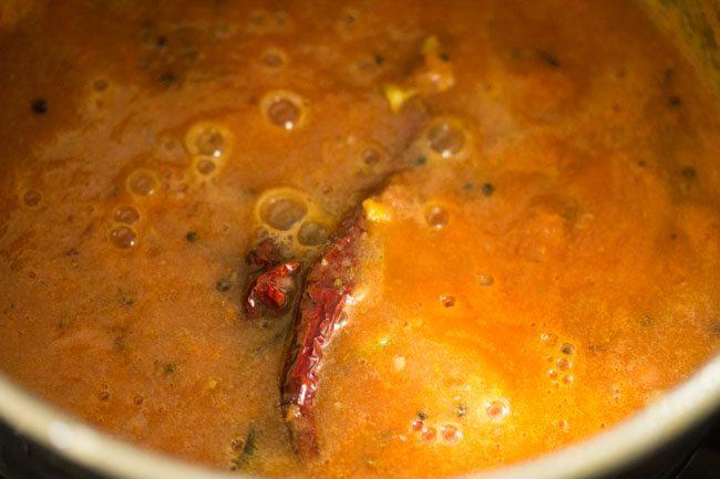 tomato puree for making quick tomato rasam recipe