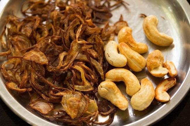 cashews to make nei choru recipe