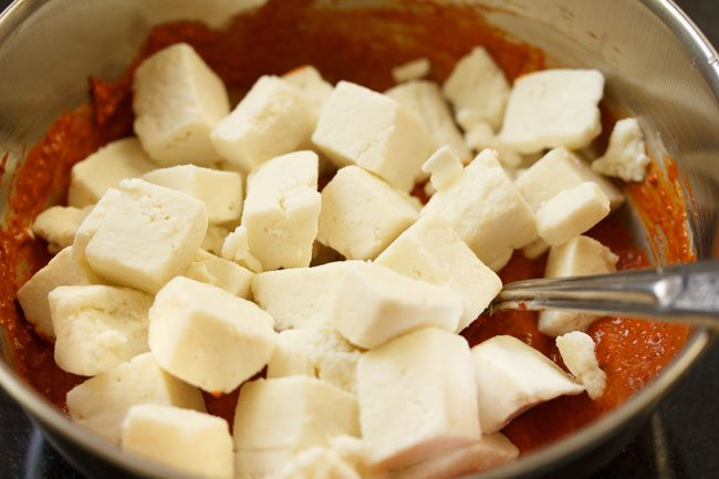 paneer for making paneer ghee roast recipe