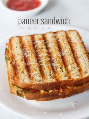 paneer sandwich recipe, how to make paneer sandwich
