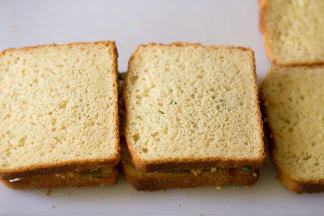 making paneer sandwich recipe