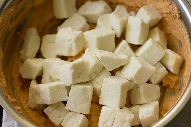 paneer for making paneer kathi roll recipe
