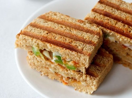 veg pizza sandwich recipe
