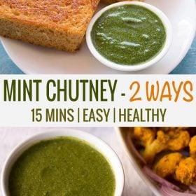 pudina chutney, how to make pudina chutney recipe