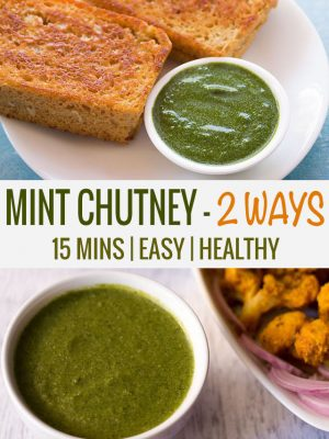 pudina chutney recipe | mint chutney recipe | how to make pudina chutney – 2 recipes