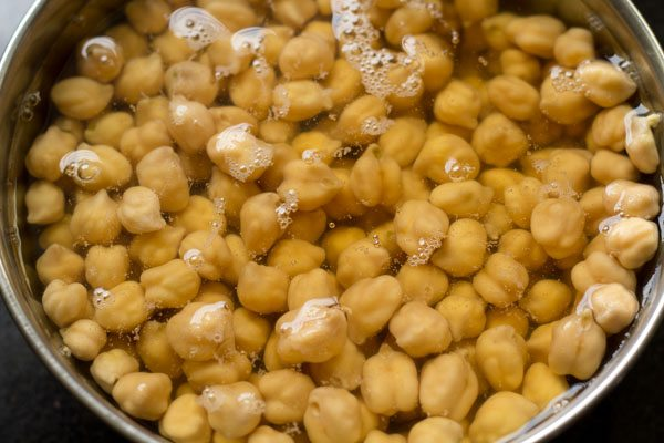 chana for samosa chaat recipe