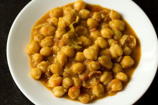 chana masala for making samosa chaat recipe
