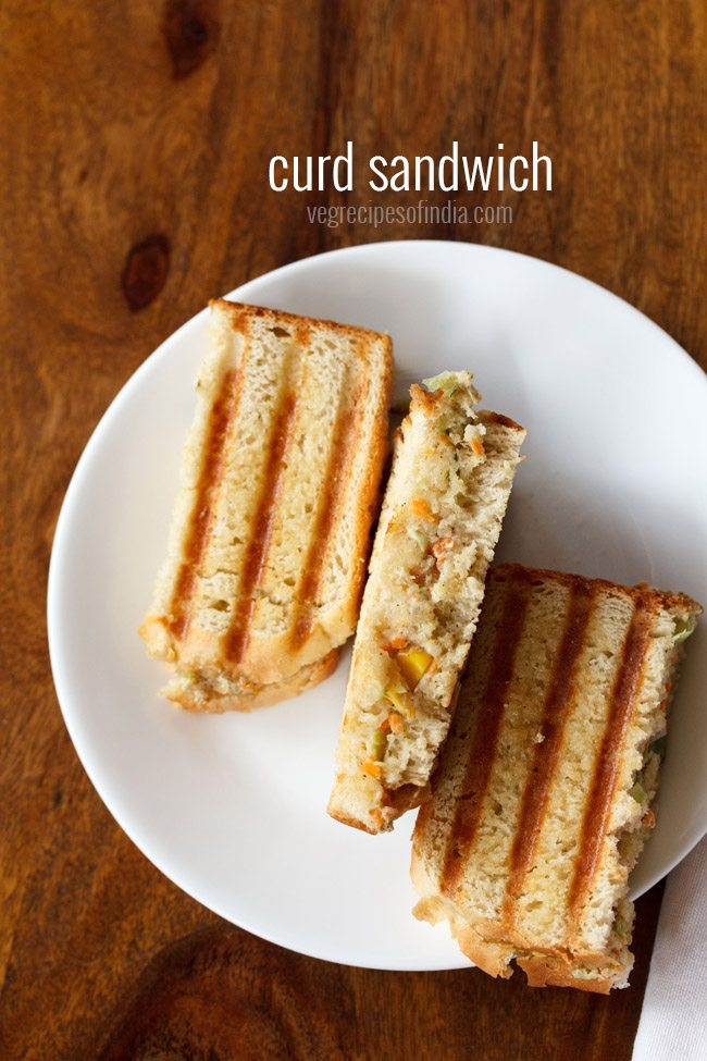 veg curd sandwich recipe