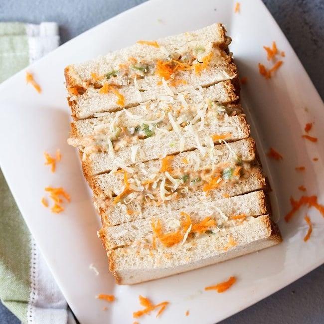 Mayonnaise Sandwich Veg Mayo Sandwich Dassana S Veg Recipes