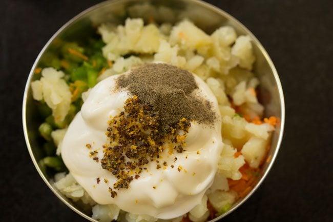 making veg mayo sandwich recipe