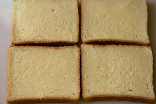 preparing veg mayo sandwich recipe