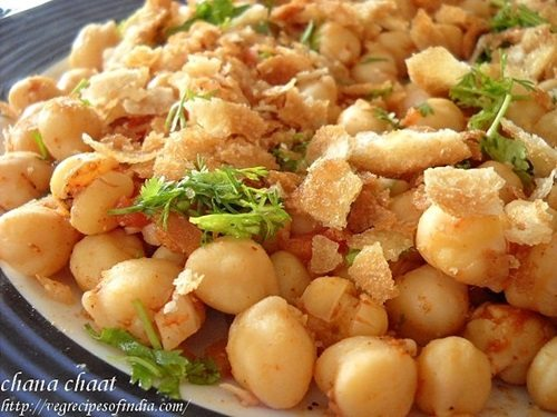 safed chana chaat recipe