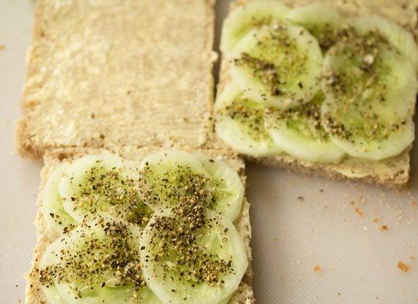 making cucumber sandwich recipe