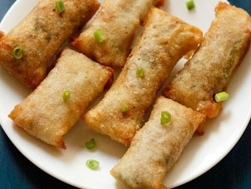veg spring rolls recipe