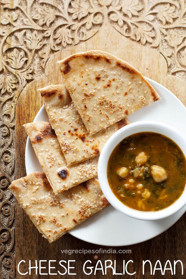 cheese garlic naan recipe