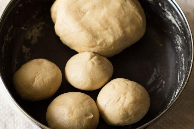 dough balls for making cheese garlic naan recipe