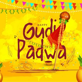vector photo signifying and symbolizing gudi padwa festival