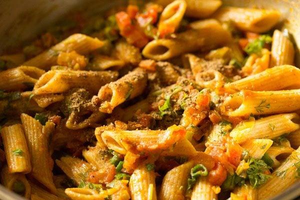 indian style masala pasta
