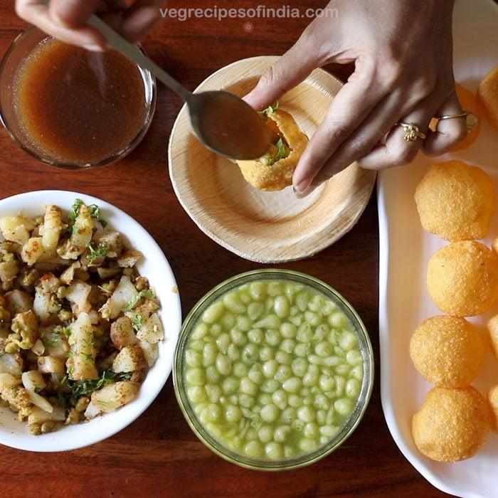 making mumbai pani puri recipe