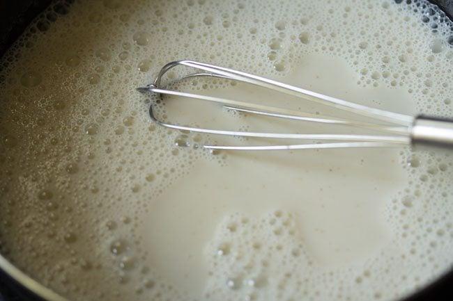 preparing pista ice cream recipe