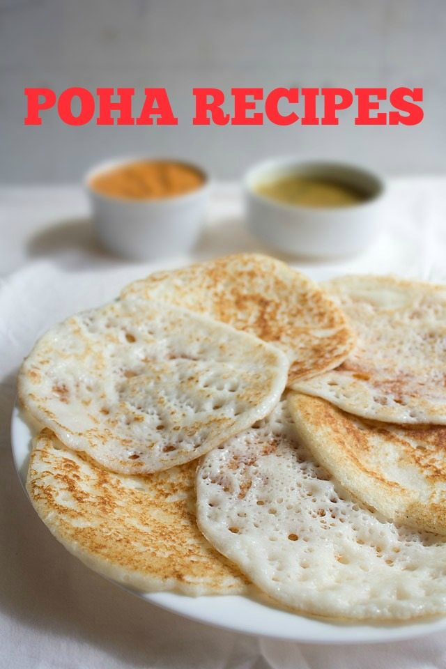 poha recipes – collection of 21 tasty poha recipes | flattened rice recipes