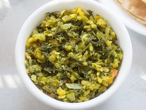 shepu moong dal bhaji recipe