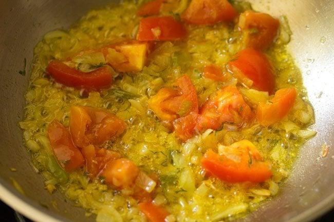 making shepu moong dal bhaji recipe