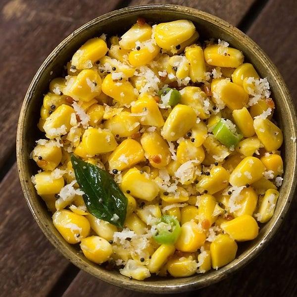 sweet corn sundal recipe, corn sundal recipe