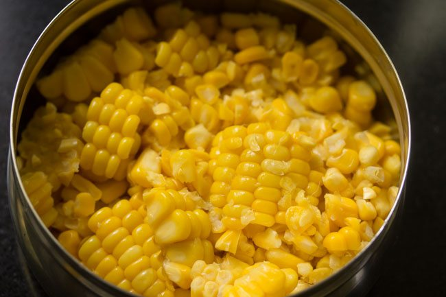 sweet corn for corn sundal
