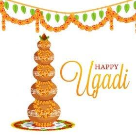 vector image signifying ugadi festival