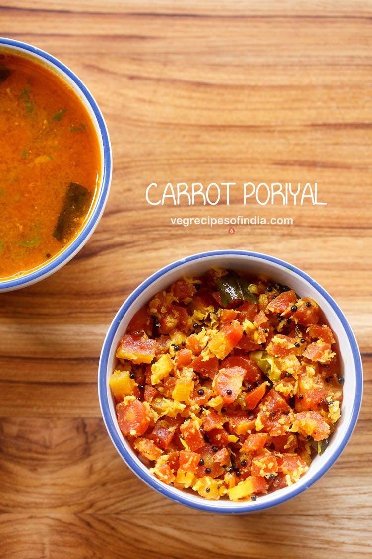 carrot poriyal recipe