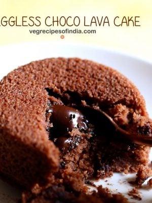 choco lava cake recipe | chocolate lava cake | eggless choco lava cake