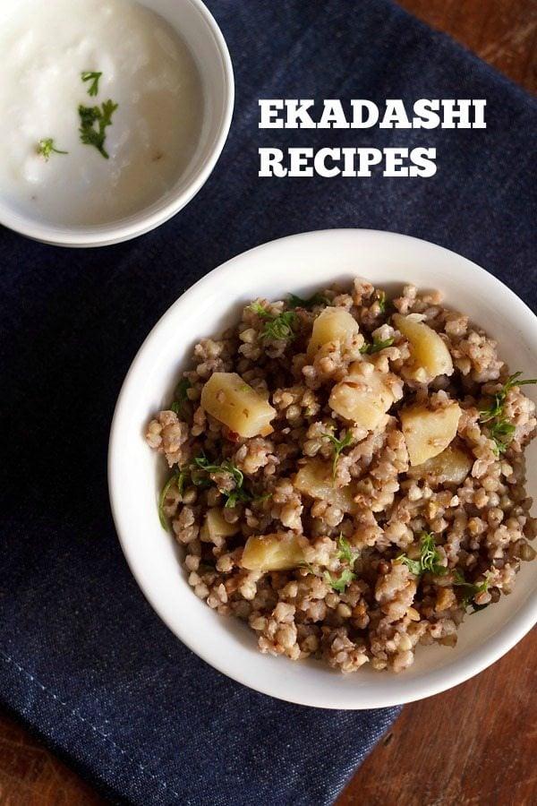 ekadashi recipes, ekadashi fasting recipes