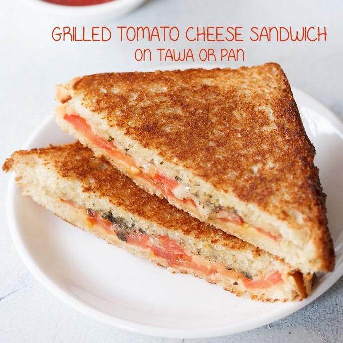 tomato and cheese sandwich recipe, cheese and tomato sandwich recipe