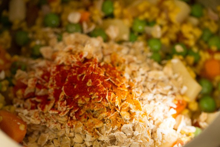 spices for making oats khichdi recipe