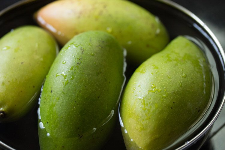 mangoes to make andhra mango pickle recipe