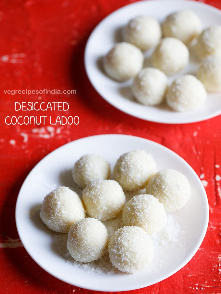 desiccated coconut ladoo recipe