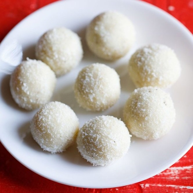 instant coconut ladoo recipe
