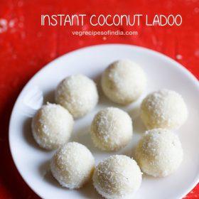 instant coconut ladoo recipe