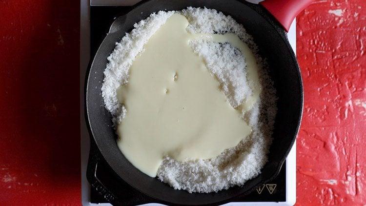 making instant coconut ladoo recipe