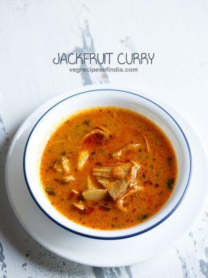 kathal recipe, raw jackfruit curry recipe, kathal curry recipe
