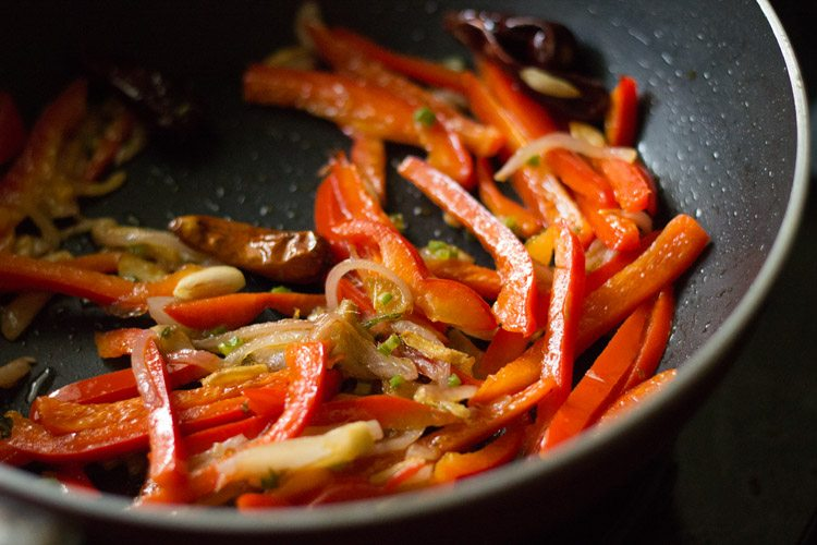 making kung pao vegetables recipe