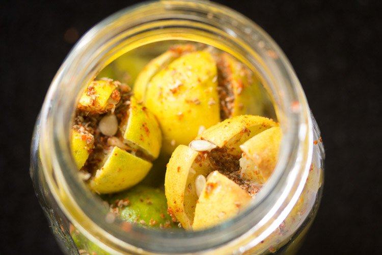 making lemon pickle recipe