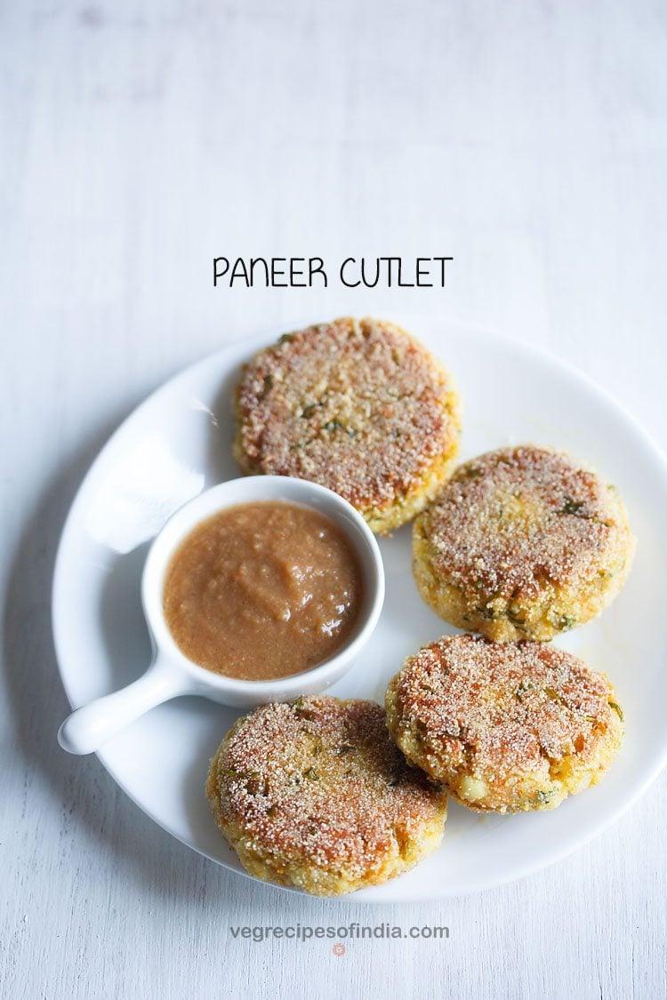 paneer cutlet recipe