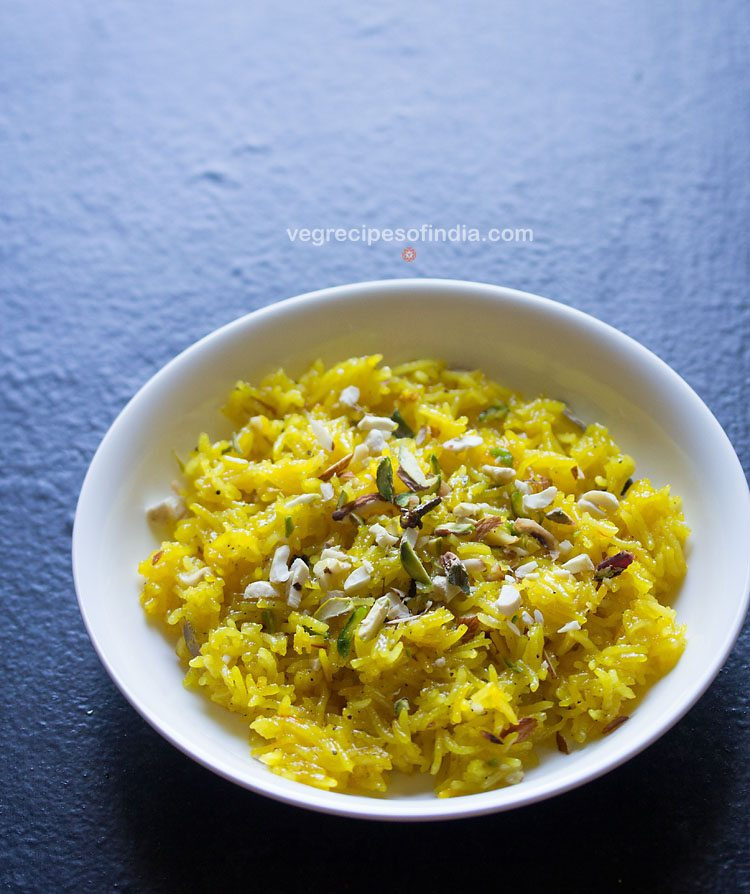 zarda recipe, meethe chawal recipe, zarda pulao recipe, sweet rice recipe