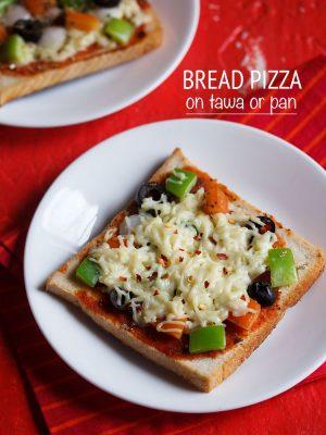 bread pizza on tawa recipe