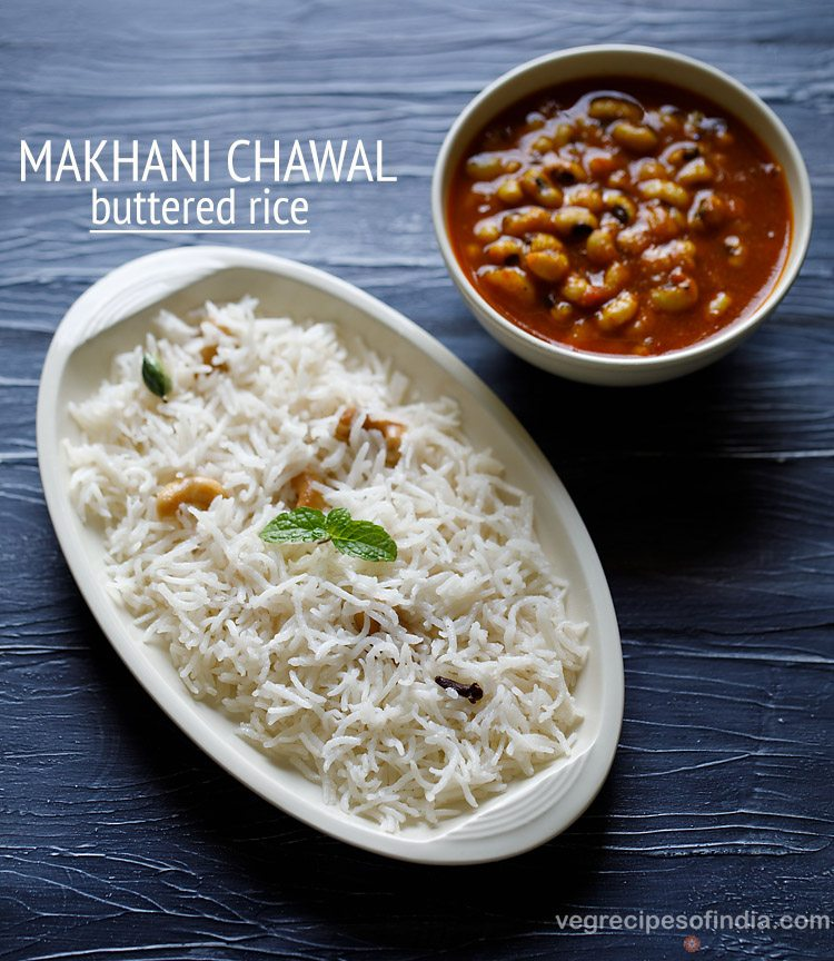 butter rice recipe, how to make butter rice recipe | makhani chawal recipe